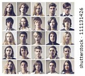 composition of portraits of... | Shutterstock . vector #111131426