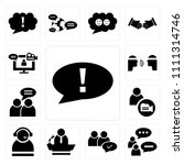set of 13 simple editable icons ... | Shutterstock .eps vector #1111314746