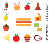 set of 13 simple editable icons ... | Shutterstock .eps vector #1111315634