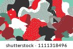 abstract seamless pattern with... | Shutterstock .eps vector #1111318496