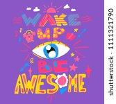 fun poster for good morning.... | Shutterstock .eps vector #1111321790