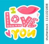 vector romantic love patch in... | Shutterstock .eps vector #1111321808