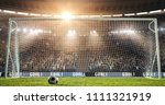 a goal on the professional... | Shutterstock . vector #1111321919