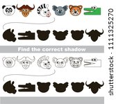 safari animals head set to find ... | Shutterstock .eps vector #1111325270