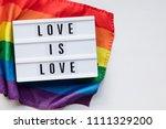 love is love lightbox message... | Shutterstock . vector #1111329200
