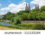 arlanzon river with burgos... | Shutterstock . vector #111133184