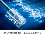 network cable and optical... | Shutterstock . vector #1111332443
