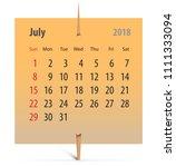 Calendar For July 2018 On An...