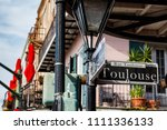 street signs and architecture... | Shutterstock . vector #1111336133