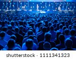 audience listens to the...   Shutterstock . vector #1111341323