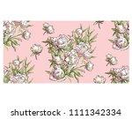 beautiful hand drawn bouquet of ... | Shutterstock . vector #1111342334