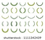 set of different silhouette... | Shutterstock .eps vector #1111342439