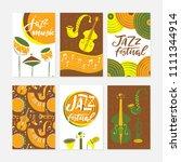 vector set of jazz festival...   Shutterstock .eps vector #1111344914