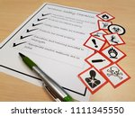 whmis safety data sheets... | Shutterstock . vector #1111345550