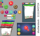 colorfull glossy buttons  icons ...