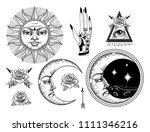 an ancient astronomical... | Shutterstock .eps vector #1111346216