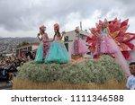 funchal  madeira  portugal  ... | Shutterstock . vector #1111346588