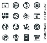 black vector icon set passport... | Shutterstock .eps vector #1111347659
