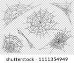web spider cobweb icons set.... | Shutterstock .eps vector #1111354949