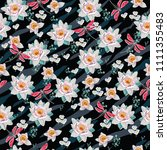 seamless vintage pattern for... | Shutterstock .eps vector #1111355483