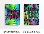 summer tropical background... | Shutterstock .eps vector #1111355738