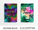 summer tropical background... | Shutterstock .eps vector #1111355744