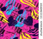 abstract seamless grunge sport... | Shutterstock . vector #1111360010