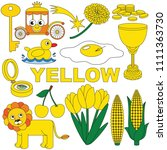 yellow objects color elements... | Shutterstock .eps vector #1111363730