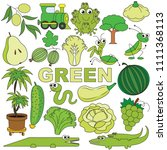 green objects color elements... | Shutterstock .eps vector #1111368113