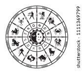 round black horoscope on a...   Shutterstock .eps vector #1111369799