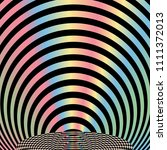 geometric pattern with  rainbow ... | Shutterstock .eps vector #1111372013