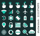 set of smartphone system icons... | Shutterstock .eps vector #1111376093