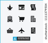 commercial icon. collection of... | Shutterstock .eps vector #1111379504