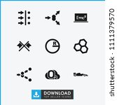 formula icon. collection of 9... | Shutterstock .eps vector #1111379570
