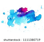 colorful abstract watercolor... | Shutterstock .eps vector #1111380719