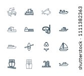 sea icon. collection of 16 sea... | Shutterstock .eps vector #1111382363