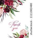 watercolor floral illustration  ...   Shutterstock . vector #1111382480