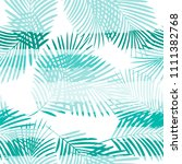 tropical pattern  palm leaves... | Shutterstock .eps vector #1111382768