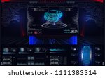scanning car  analysis and...   Shutterstock .eps vector #1111383314