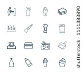 hygiene icon. collection of 16...   Shutterstock .eps vector #1111383890