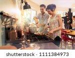 mixed group of friends having...   Shutterstock . vector #1111384973