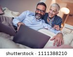 portrait of a senior couple... | Shutterstock . vector #1111388210