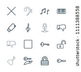 key icon. collection of 16 key... | Shutterstock .eps vector #1111388558