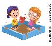 vector illustration of kids...   Shutterstock .eps vector #1111392110