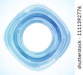 geometric frame from circles ... | Shutterstock .eps vector #1111392776
