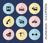 set of 9 lift filled icons such ...   Shutterstock .eps vector #1111395056