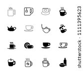 tea icon. collection of 16 tea... | Shutterstock .eps vector #1111395623