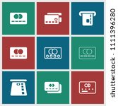 debit icon. collection of 9...   Shutterstock .eps vector #1111396280