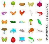 natural area icons set. cartoon ... | Shutterstock . vector #1111398719