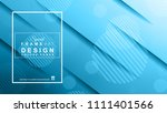 abstract geometric colorful... | Shutterstock . vector #1111401566